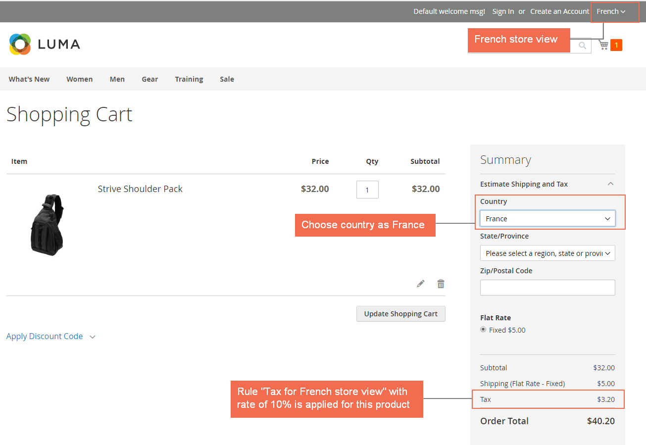 Tax in french store view - magento-2-tax-per-store-view-extension