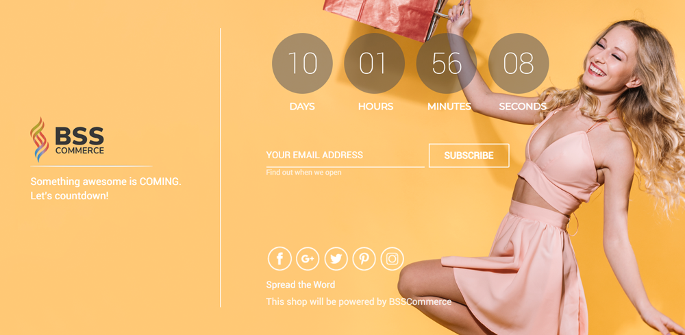 Magento 2 coming soon page