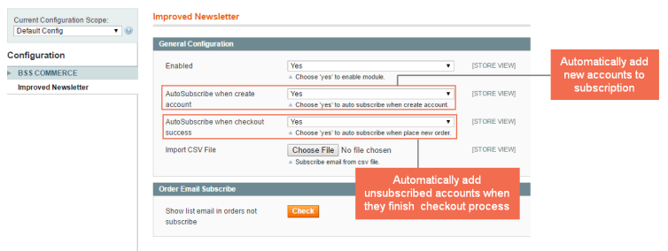 magento newsletter - auto subscribe