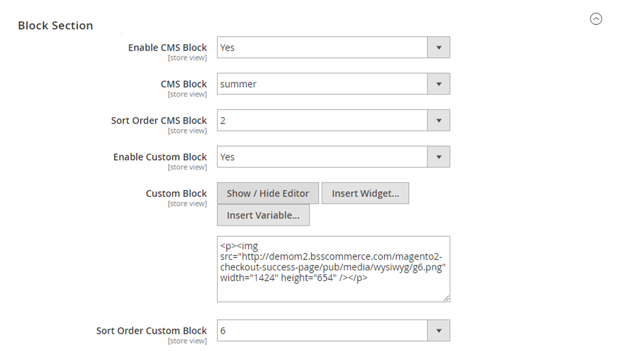 edit CMS blocks