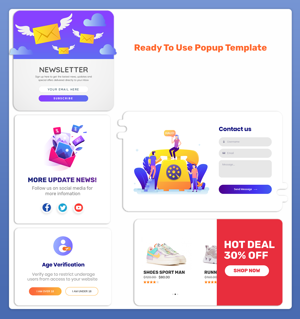 Magento 2 Retail Popup Template