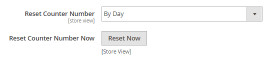 custom order number magento2-reset counter
