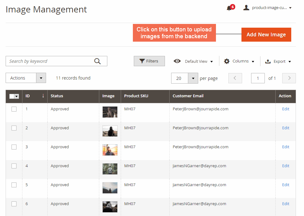 magento product image extension-image management