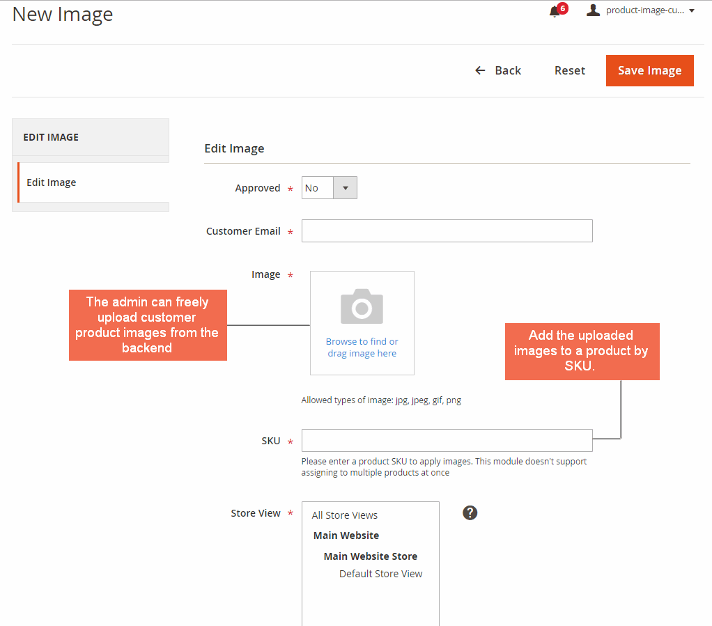 magento product image extension-new image