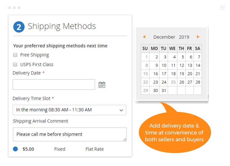 Magento 2 Order Delivery Date at Checkout