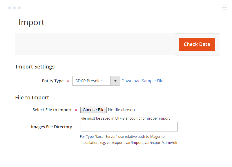Import Pre-select Simple Details on Magento 2 Configurable Products