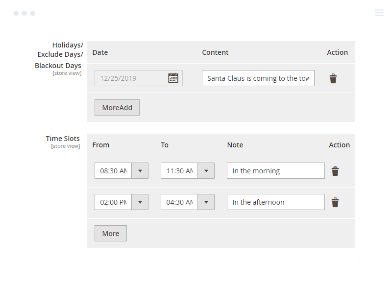 Exclude Dates and Times from Magento 2 Delivery Date