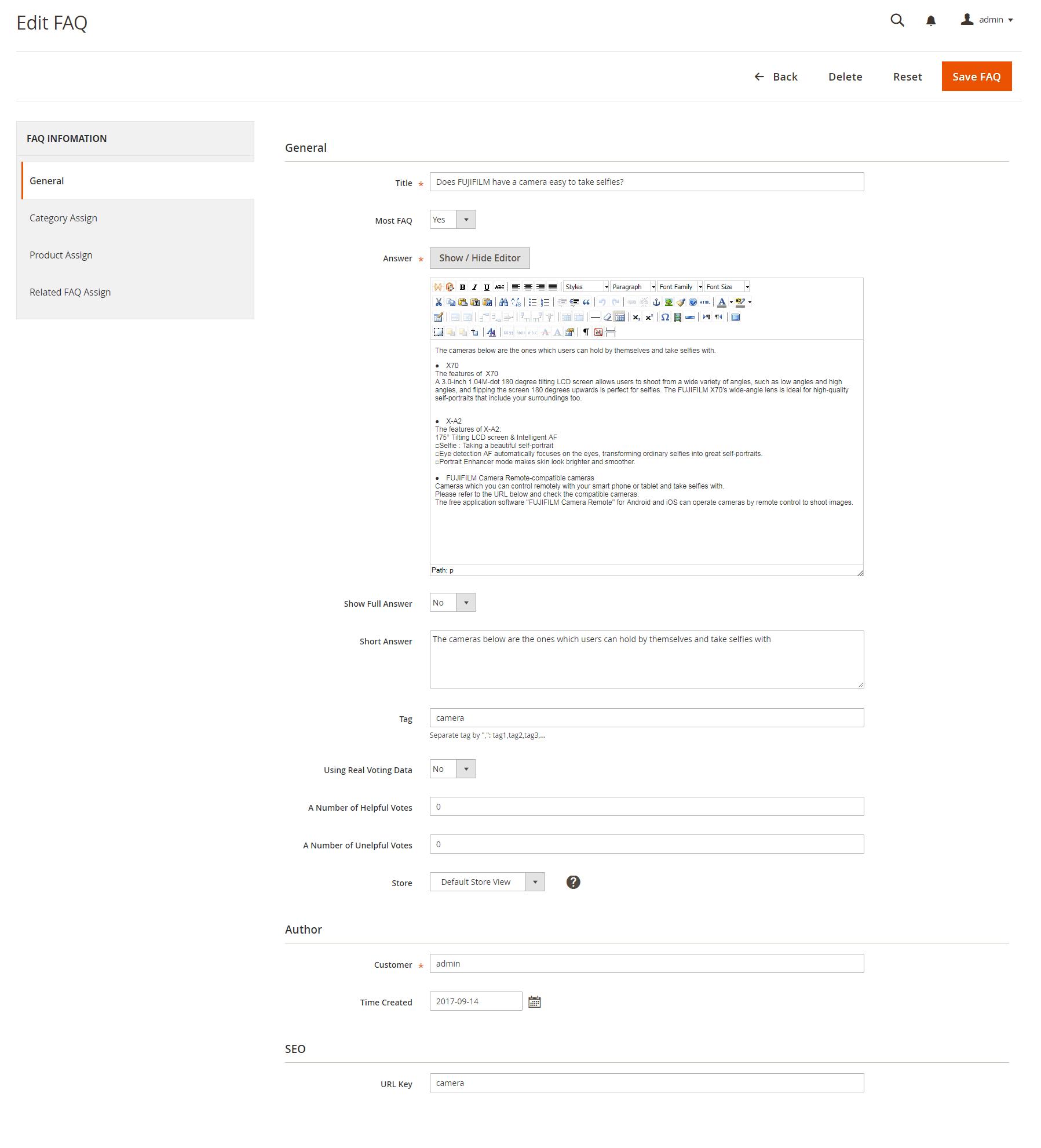 Edit FAQs