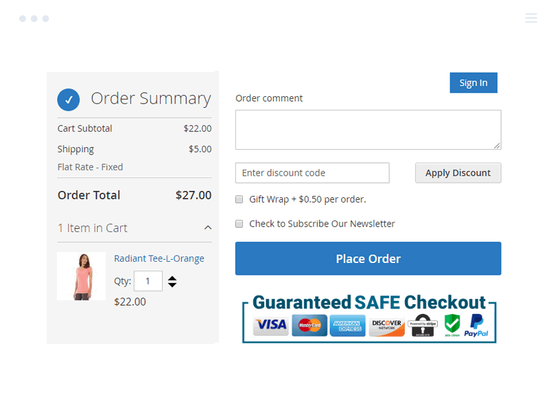 Enhanced Payment Trust Badges at Magento 2 One Page Checkout