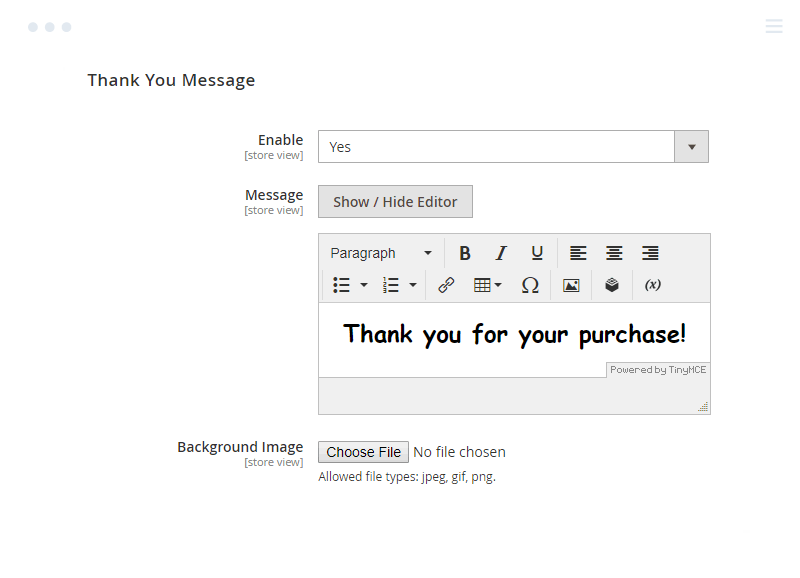 Tailor thankout message for Magento 2 One Step Checkout Success Page