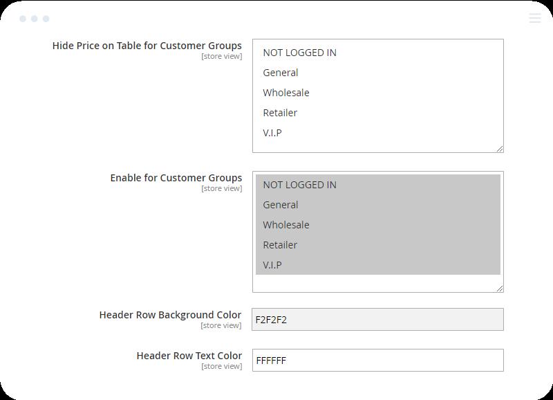 Magento 2 Configurable Wholesale Display for B2B