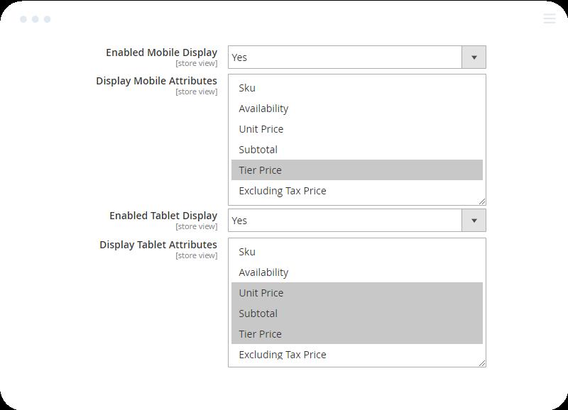 Responsive Configurable Display in Magento 2