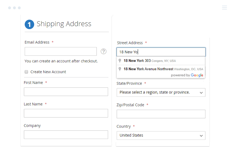 Auto Google Address Suggestion in Magento 2 Checkout Suite
