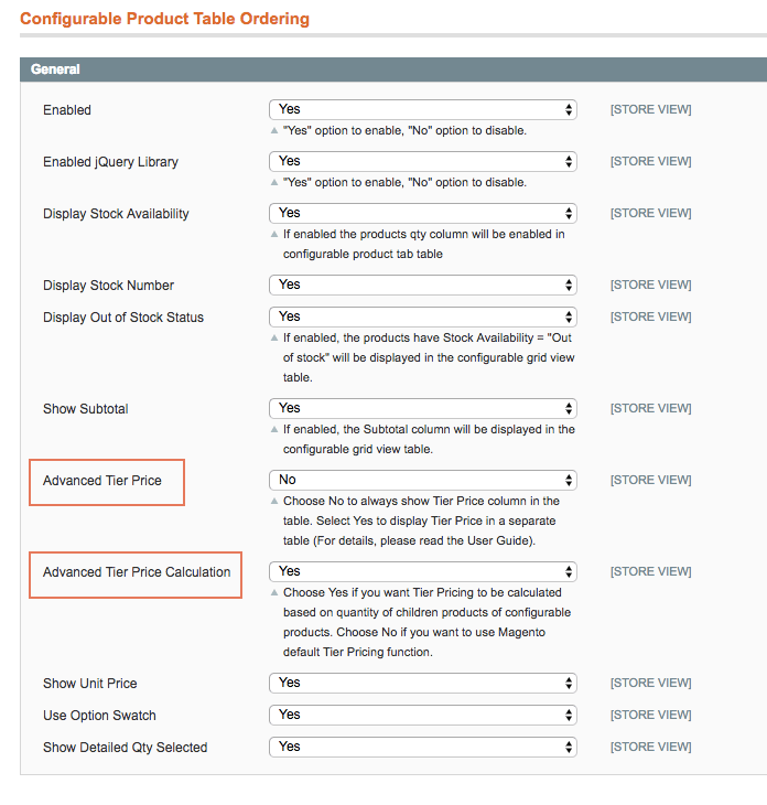 Configuration in magento backend
