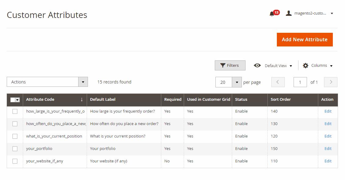 Add new custom fields to B2B registration form