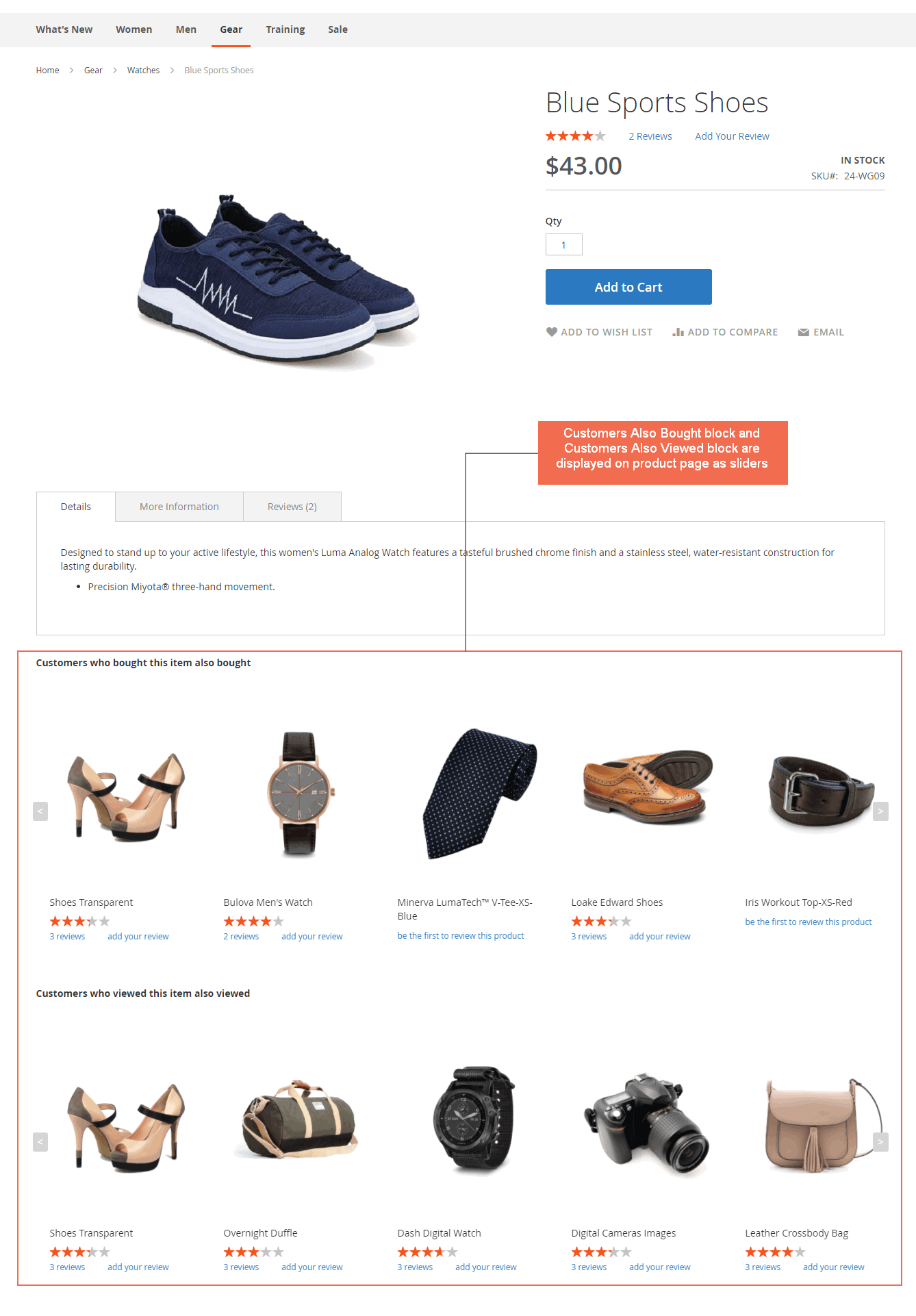 Customers Also Bought and Also Viewed block on the Magento 2 product page