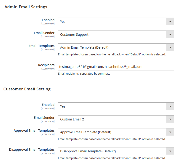 magento 2-approval-customer-registration-email-settings