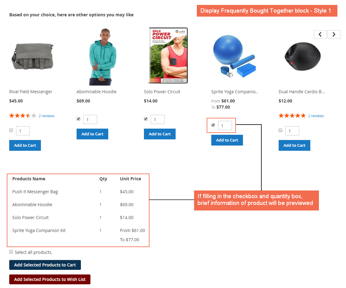 Display Frequently Bought Together - Style 1