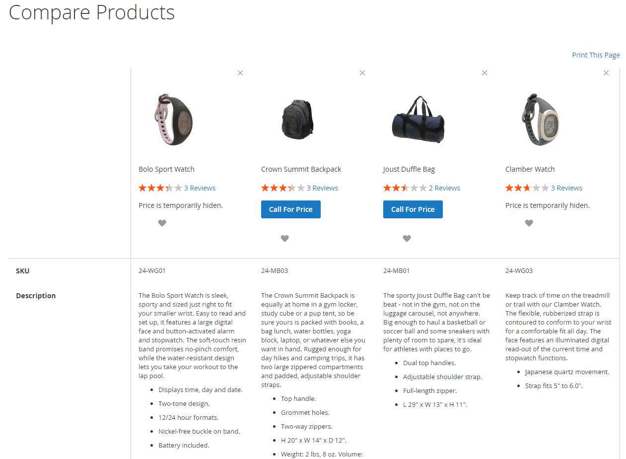 call for price extension magento 2-Hide product price on Comparison Page