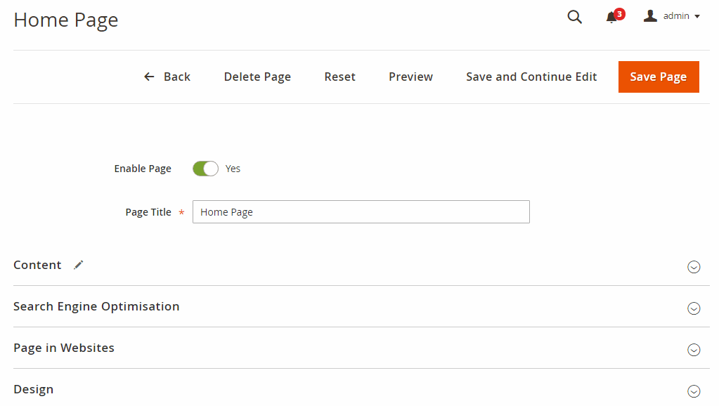 Preview frontend CMS pages from Edit CMS page