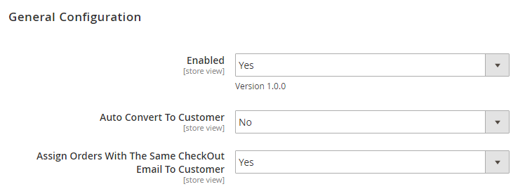 Set No if you don't want to auto convert guest to customers after Magento 2 checkout