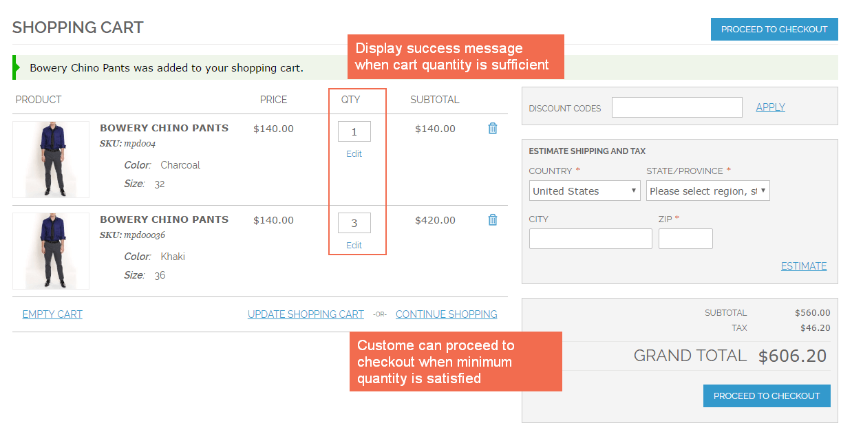 Show success message to notify adding product to cart successfully