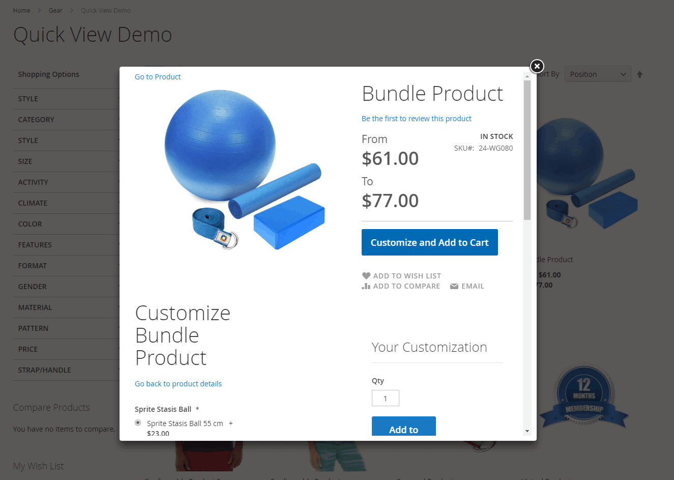 Quick View pop-up for bundle product in Magento 2
