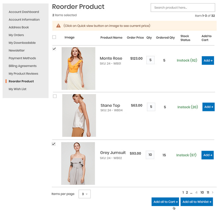 Reorder product list in Magento 2