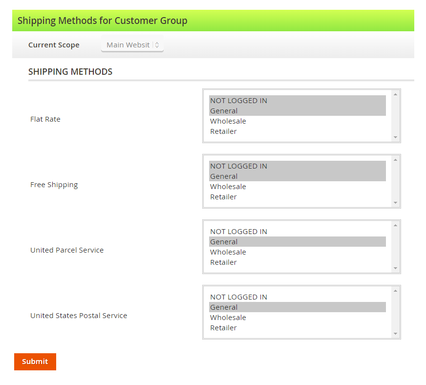 Magento-2-shipping-options-per-customer-group