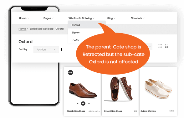catalog permission magento 2 b2b demo image