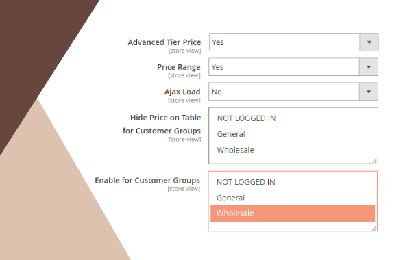 magento 2 b2b extension demo configurable display