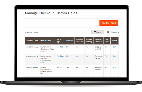 Magento 2 Checkout Custom Field Management
