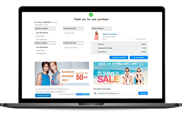 User-friendly Magento 2 One Page Checkout Success