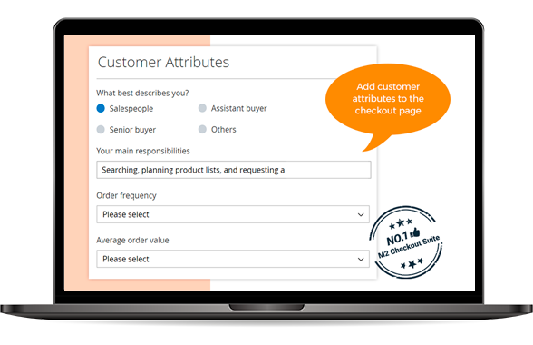Customer Attributes at One Page Checkout for Magento 2