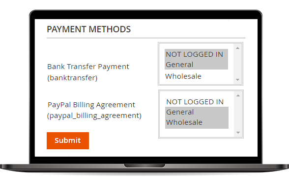 Payment Methods per Customer Group of Magento 2