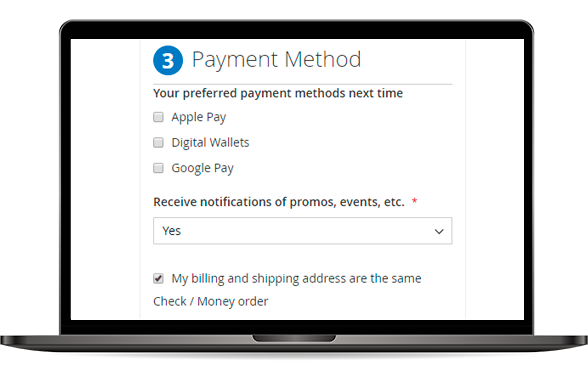Pre-select Payment Method at Magento 2 Checkout