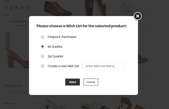 magento-2-multiple-wishlist-popup