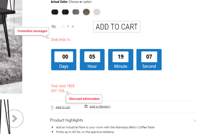 Magento 2 Special Price Countdown Extension - Countdown Clocks For