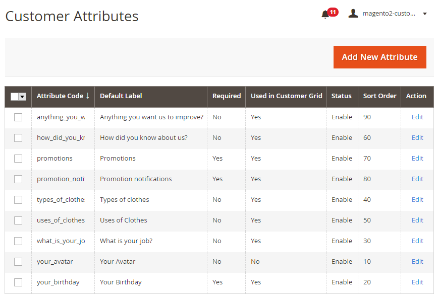 Magento 2 order attribute grid