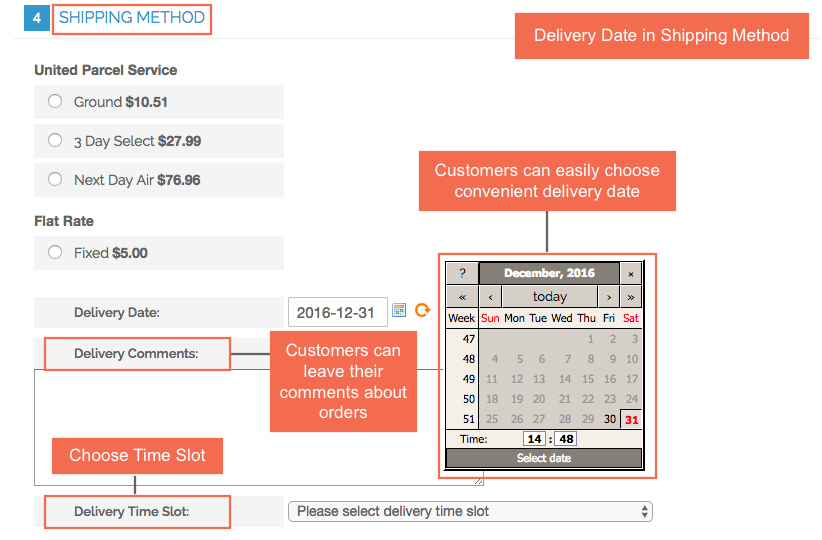 Magento Order Delivery Date and Time Extension shows in Shipping Method