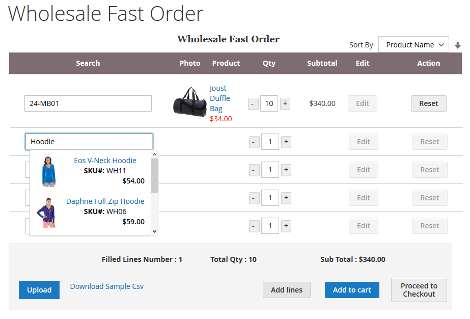 Magento 2 Wholesale Fast Order Extension | Must-have extension for b2b business