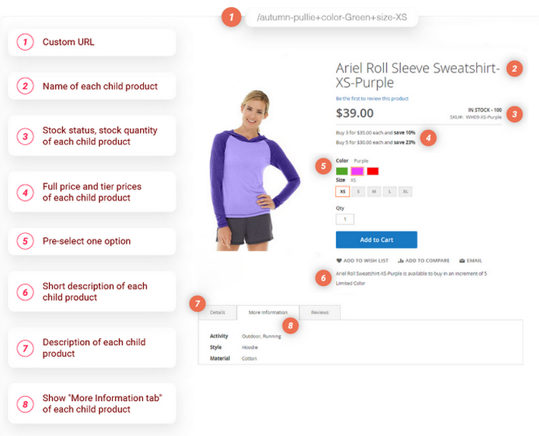 simple details on configurable product magento 2