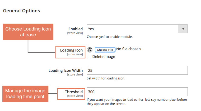 Magento 2 Lazy Load Image Extension allows administrators to choose their desired loading icons