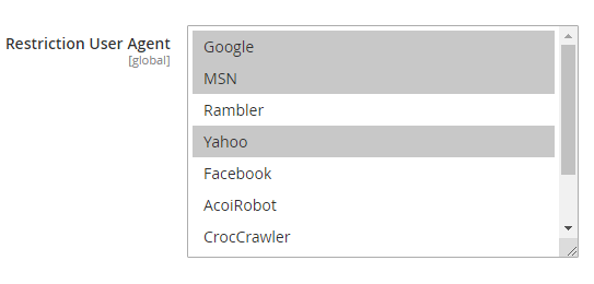 Don't redirect search engine crawlers