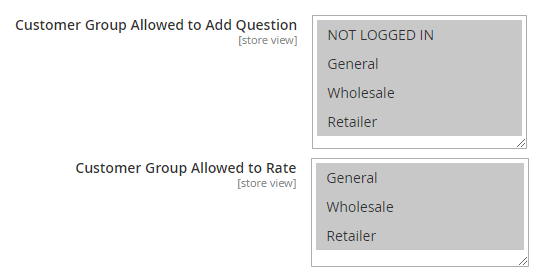 magento 2 product questions customer group restriction