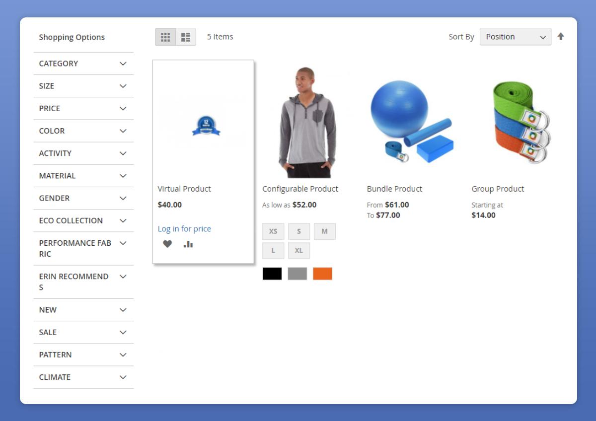 Magento hide category price