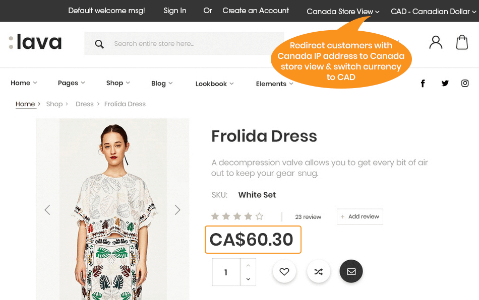 Magento 2 store switcher- Redirect Canada users to right store view