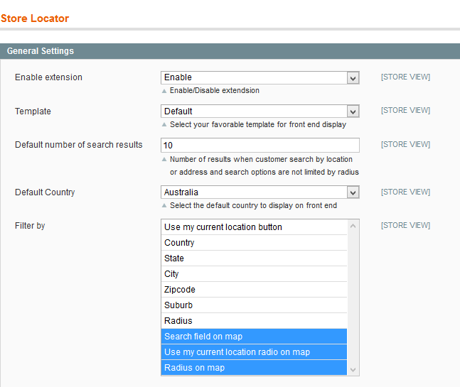 Magento Store Locator Extension Admin