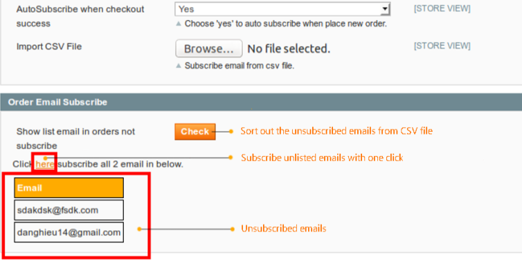 magento newsletter-auto unscribe