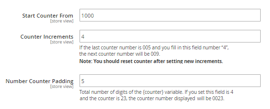 custom order number magento2-counter settings